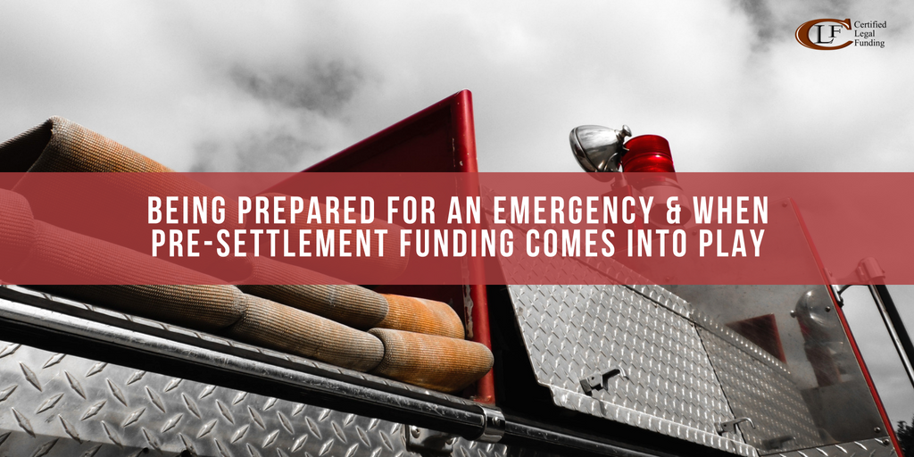 Featured image for Being Prepared For An Emergency & When Pre-Settlement Funding Comes Into Play blog