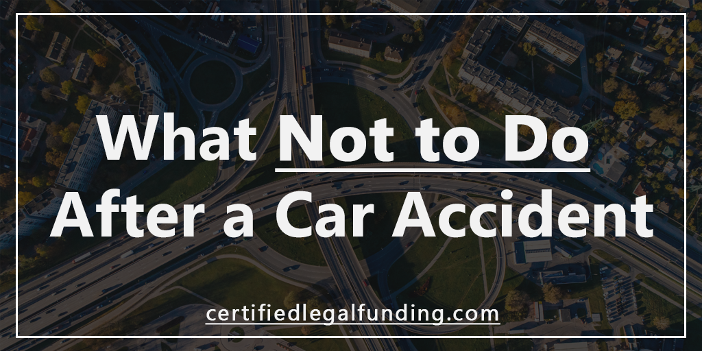 Featured image for an article called What Not to Do After A Car Accident