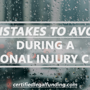 Featured image for an article called Mistakes to Avoid During A Personal Injury Claim