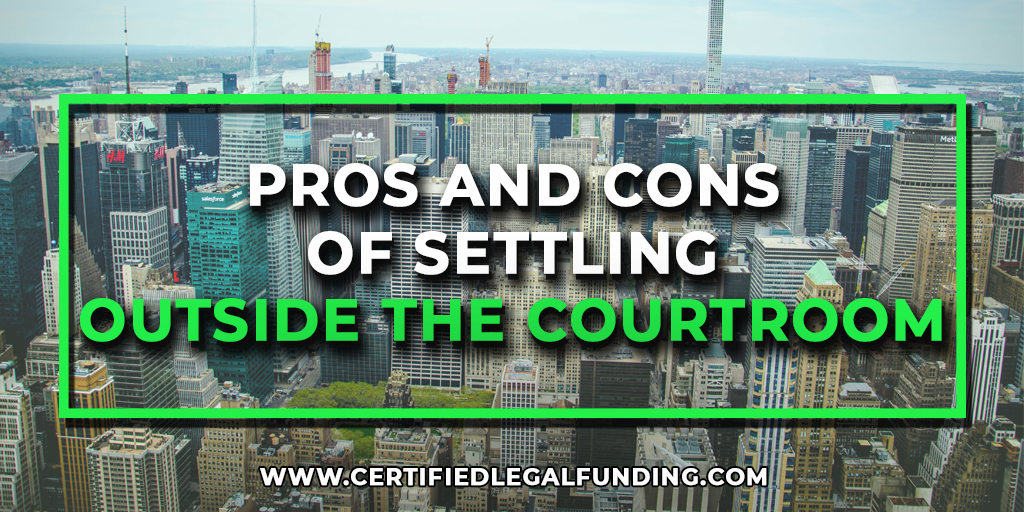 Featured image for an article called Pros and Cons of Settling Outside the Courtroom