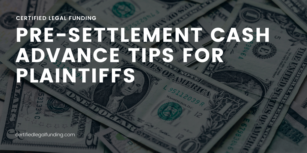 cash advance tips for plaintiffs